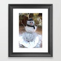 Winter Tumble Man Framed Art Print