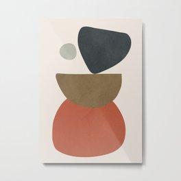 Abstract Balancing Stones Metal Print