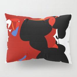 Red Black Forest Colorful Abstraction Digital Art - RegiaArt Pillow Sham