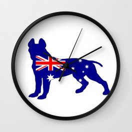 Australian Flag - Pit Bull Terrier Wall Clock