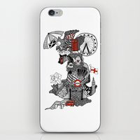 england iPhone & iPod Skins featuring England Doodle by Rebecca Bear
