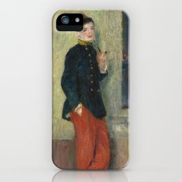 The Young Soldier oil Painting by Auguste Renoir iPhone Case