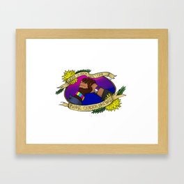 Less Queerbaiting - More Queer Dating!  Framed Art Print