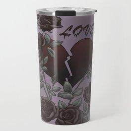 Black Roses Broken Heart Lost Love Travel Mug