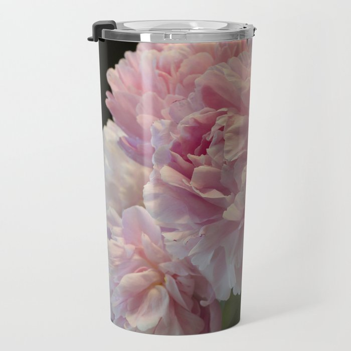 Pink Peony Passion Travel Mug