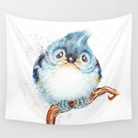 baby Wall Tapestries featuring Baby titmouse by Patrizia Ambrosini