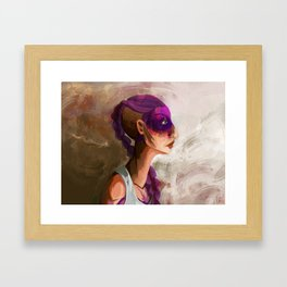 Beofre the pain hits. Framed Art Print
