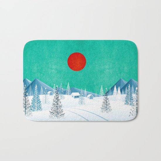 Winter Nature Bath Mat