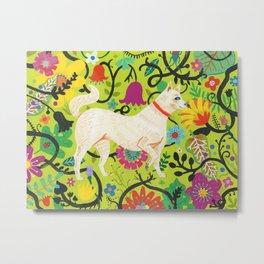 Spring Jindo Dog Metal Print