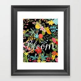 Bloom, Floral Inspirtional Framed Art Print