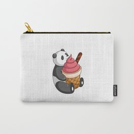 Hey Bear Panda Strawberry Ice Cream Carry-All Pouch