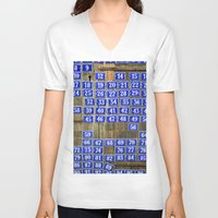 numbers V-neck T-shirts featuring Numbers by Marieken