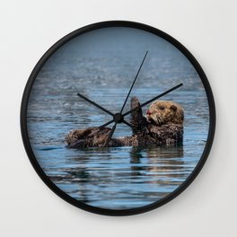 Sea_Otter I - Kachemak_Bay, Alaska Wall Clock
