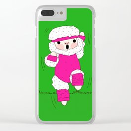 Aerobics Time Clear iPhone Case