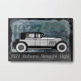 vintage car automobile auburn Metal Print