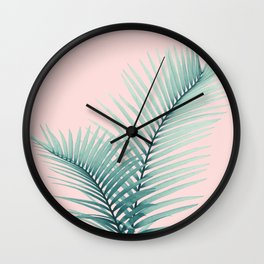 Intertwined - Palm Leaves in Love #2 #tropical #decor #art #society6 Wall Clock