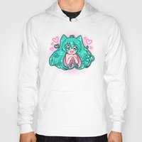 vocaloid Hoodies featuring Vocaloid: Love Miku by Alice In Underwear