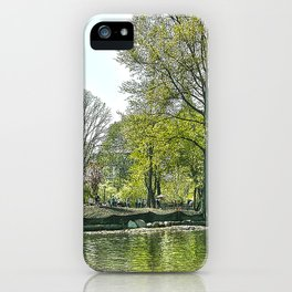 Lake at Central Park - NYC iPhone Case