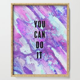 You Can Do It Positivity Purple Serving Tray