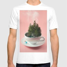 Hot cup of tree MEDIUM White Mens Fitted Tee