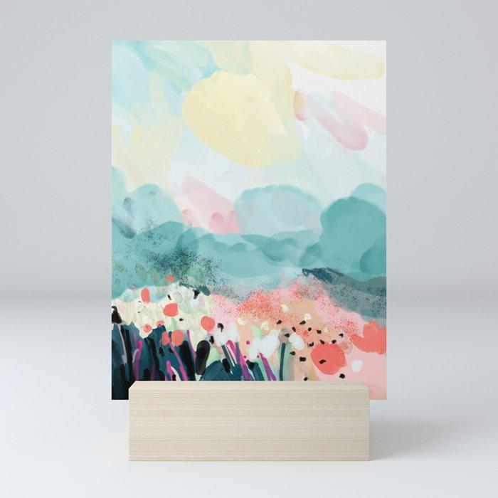 spring landscape Mini Art Print