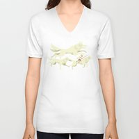 princess mononoke V-neck T-shirts featuring Princess Mononoke by Wharton