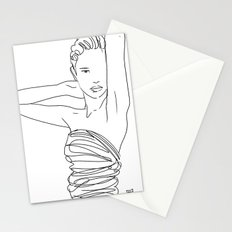 Line Art Lady Stationery Cards