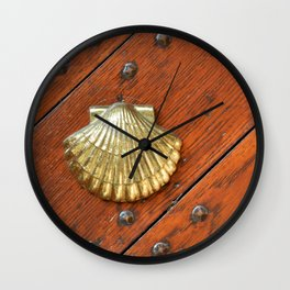 Gold shell Wall Clock