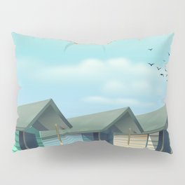 Great Yarmouth Beach travel poster Pillow Sham