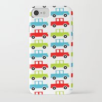 cars iPhone & iPod Cases featuring cars by laura mendoza v.
