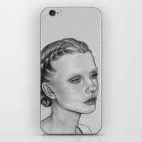 emily rickard iPhone & iPod Skins featuring Emily by Kalynn Burke