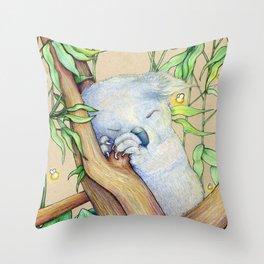 Sleep Koala Throw Pillow