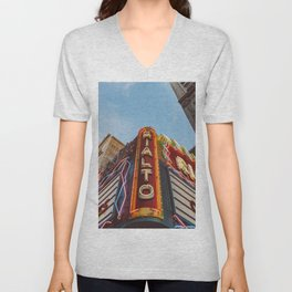 Los Angeles Rialto Theatre Unisex V-Neck