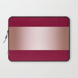 Burgundy and rose gold stripe Laptop Sleeve