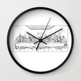 Last Supper Outline Sketch Wall Clock