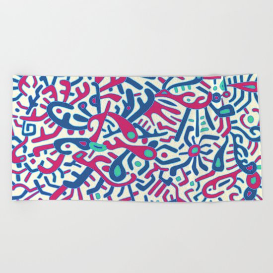 - summer sea jungle - Beach Towel