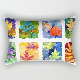 Colorful Summer Leaves Rectangular Pillow