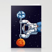 gym Stationery Cards featuring Space Gym  by Tobe Fonseca