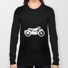 Motor Cycle Outline Long Sleeve T-shirt