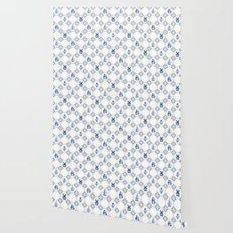Delft Blue Holland Pottery Wallpaper