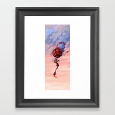 The Old Man in The Balloon Framed Art Print