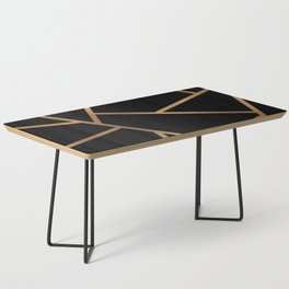 Black and Gold Fragments - Geometric Design Coffee Table