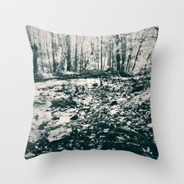 Around the Green Riverbend Throw Pillow