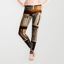 books background in watecolor style Leggings