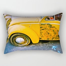 vintage vw and door art Rectangular Pillow