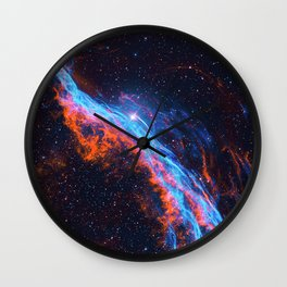 Nebula and stars Wall Clock