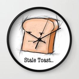Stale Toast Wall Clock