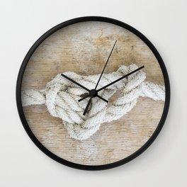 Knot on driftwood Wall Clock