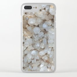 crystal cluster Clear iPhone Case
