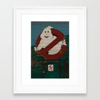 ghost busters Framed Art Prints featuring Mechanical Trouble-Busters by Sciuridae